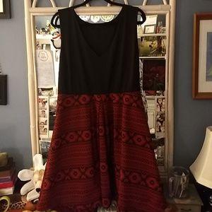 Black & Red Fashion to Figure Dress sz 2X